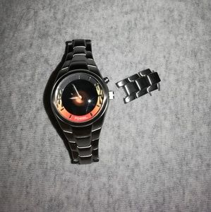 Fossil Big Tic Stainless Steel Flame Watch